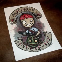 Zombie King of Double Tap Art Print 5x7