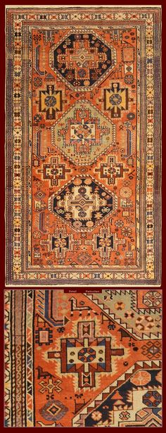 ANTIQUE SHIRVAN BAKU RUG CAUCASUS - 207 X 117 CM - 6.79 X 3.84 FT - COD. 140000000232