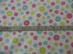 Button Cotton Flannel Sewing quilting fabric 1 yard or more by flyingdollar on Etsy
