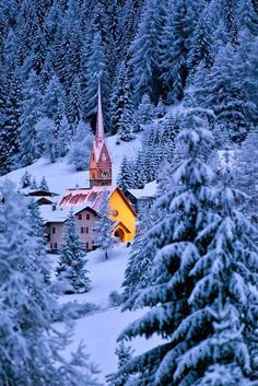 Christmas tale, Dolomites, Italy