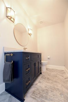 Delicieux Modern Bath, Bathroom Vanity, Navy Vanity, Gold Hardware, Custom Cabinetry,  Cabinets