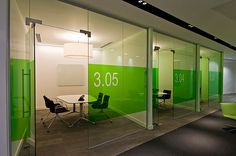 Glass walls + graphics