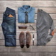 The latest men's fashion including the best basics, classics, stylish eveningwear and casual street style looks. Shop men's clothing for every occasion online Mode Outfits, Casual Outfits, Men Casual, Fashion Outfits, Smart Casual, Casual Wear, Fall Outfits, Mode Masculine, Trajes Business Casual