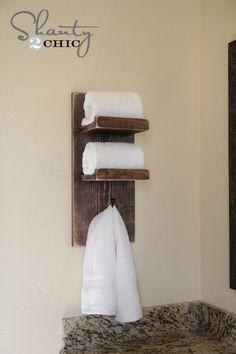 DIY Bathroom Towel Hook  need this for my bathroom