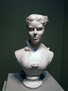 Edmonia Lewis Famous Art Works | Bust of a woman by Edmonia Lewis.