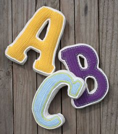 3D LETTER - crochet pattern, PDF, pattern for one letter - would be great for a kid's bedroom