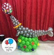 Decoração com Balões Circus 1st Birthdays, Circus Birthday, Circus Party, Balloon Hat, Balloon Animals, Balloon Arch, Balloon Centerpieces, Balloon Decorations Party, Party Themes