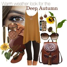 Deep Autumn by prettyyourworld on Polyvore featuring Mode, WearAll, Tasc Performance, Roberto Coin, Dorothy Perkins, Oliver Peoples, Tory Burch, Laura Geller, L'Oréal Paris and Vincent Longo