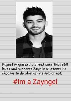 I fully support Zayn. But I don't like the fact that he lied to us about it. He should have been honest about it.