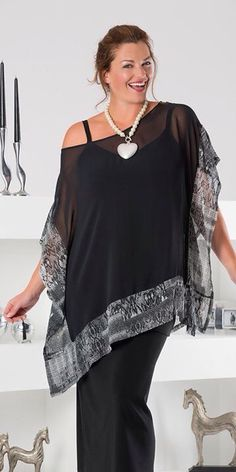 Kasbah black/snake voile square blouse - Plus Size Vestidos Plus Size, Plus Size Dresses, Plus Size Outfits, Boho Fashion, Fashion Outfits, Womens Fashion, Mode Inspiration, Mode Style, Plus Size Women
