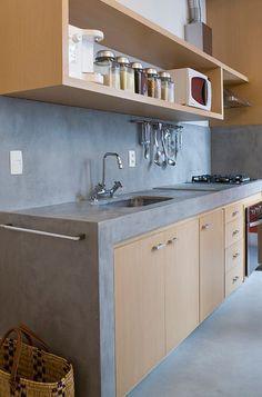 Com jeito de loft, amei essa cozinha.