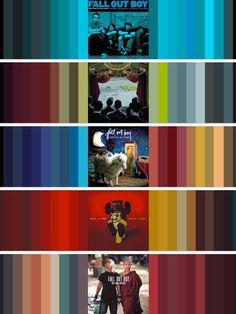 Fall Out Boy Album Color Schemes