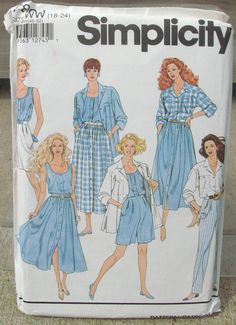 1992 Uncut Simplicity Pattern 7894  Misses by lovelylovepatterns, $4.50