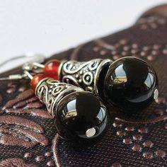 boucles d'oreilles ethnique crochet en argent 925  et
