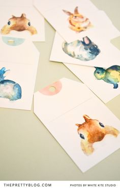 FREE printable watercolor bunny tags (you have to register to download)