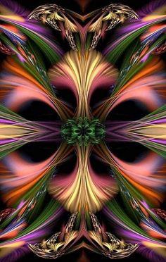 wind of colors Fractal Images, Fractal Art, Colorful Wallpaper, Wallpaper Backgrounds, Kaleidoscope Art, Foto Poster, Fractal Design, Art Pictures, Photos
