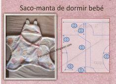 saco-manta de dormir de bebé Free Baby Patterns, Kids Patterns, Diy Bebe, Baby Cocoon, Diy Baby Gifts, Baby Swaddle Blankets, Baby Couture, Baby Wraps, Baby Kids Clothes