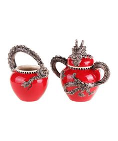 This Red Dragon Sugar Bowl is perfect! #zulilyfinds