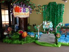 Promotional Vbs Themes, Vbs Crafts, Operation Christmas Child, Animal Habitats, Vacation Bible School, Stage Decorations, Camping Theme, Animal Decor, Animal Party