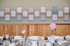 clipboard of the bride and groom's memories together - so sweet!