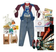 """""""but man, these times are hard."""" by nadyaarw on Polyvore featuring Vans, Free People and CASSETTE"""