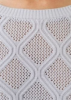 Diamond lace and cable. More Great Patterns Like This