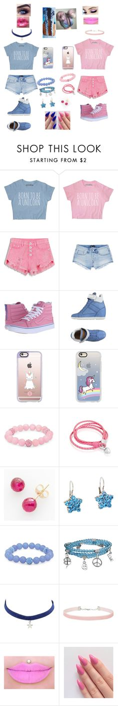 """""""Pink 💖 Blue 💙"""" by unicornchaby ❤ liked on Polyvore featuring 3x1, Vans, Santoni, Casetify, Palm Beach Jewelry, Oxford Ivy, Ball, Pasquale Bruni, Bling Jewelry and Miss Selfridge"""