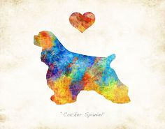 """COCKER SPANIEL Dog Breed Watercolor Art Print. *Choose your print size: 6""""x8"""", 8""""x10"""", 11""""x14"""", or 12""""x16"""" *Choose warm or bright color palette for your watercolor print. *Option to personalize by adding your dog's name. *Optional Dog Remembrance layout: """"Forever in our Hearts"""" with dog's name. *Option to mount print on Birchwood art board. Comes ready to hang or ready to gift, and includes hardware. *Signed Art Print from the original illustration of Artist Dan Morris. *Premium…"""