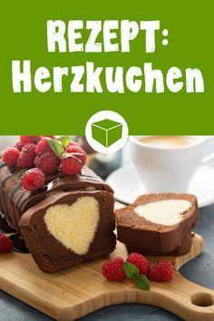 Rezept Kuchen mit Herz - zaubere zum Geburtstag, Muttertag oder Valentinstag diesen leckeren Schokokuchen mit Überraschung im Inneren. #rezept #kuchen #herzkuchen