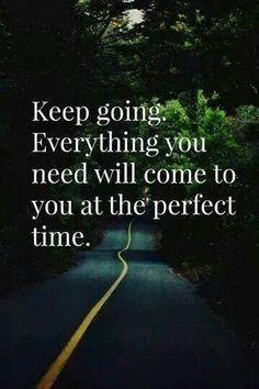 Keep going...period. Amen!!! MQB