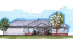 House Plan 5631-00025 - Ranch Plan: 960 Square Feet, 3 Bedrooms, 1 Bathroom