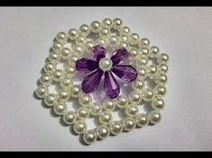 পুতির ব্যাগ এর ফুল তৈরি। how to make beads flower,for purse and bag. Beaded Clutch, Beaded Bags, Beaded Brooch, Loom Beading, Beading Patterns, Bead Bowl, Beard Jewelry, Making Bracelets With Beads, Beaded Bracelets