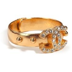CHANEL VINTAGE JEWELRY Golden Coco Chanel Ring www.MadamPaloozaEmporium.com www.facebook.com/MadamPalooza