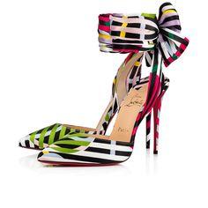 393883259dd Christian Louboutin Douce Du Desert. Christian Louboutin Official Online  Store. Douce Du Desert 100 Multi Satin - Women Shoes ...