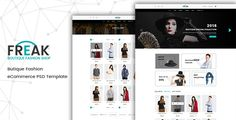 Freak - Boutique eCommerce PSD template . Freak – Boutique eCommerce psd template is an awesome design idea for your online shop. Easy and intuitive shopping experience. PSD files are well organized and named accordingly so its very easy to customize and update. Total 12 PSD files have been