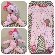 Using baby's take home outfit and making a keepsake bear