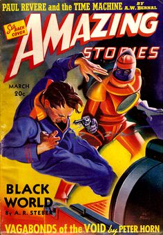 Amazing Stories Mar 1940 - Black World, Cover art by H. W. McCauley