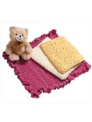 Beginner Baby Blankets -- 3 crochet baby blanket patterns perfect for the beginning stitcher or for someone wanting an easy repeat blanket. Crochet Baby Toys, Baby Afghan Crochet, Baby Afghans, Crochet Baby Booties, Baby Knitting, Crochet Afgans, Knit Or Crochet, Kids Crochet, Beginner Crochet