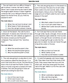 Worksheets Main Idea Worksheets 4th Grade main idea and supporting details 3rd 5th grade worksheet worksheets 1