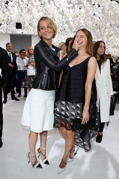 When she face-palmed Emma Watson. | 22 Times Jennifer Lawrence Just Did Not Care What Anyone Thought