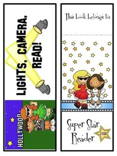 FREE: Here are some great bookmarks to add to your Hollywood or Movie Themed classroom.