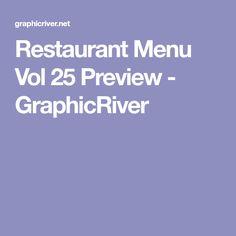 Restaurant Menu Vol 25 Preview - GraphicRiver