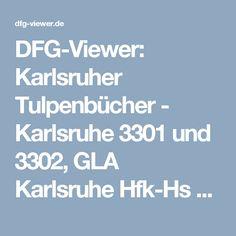 DFG-Viewer: Karlsruher Tulpenbücher - Karlsruhe 3301 und 3302, GLA Karlsruhe Hfk-Hs Nr. 263 und 269