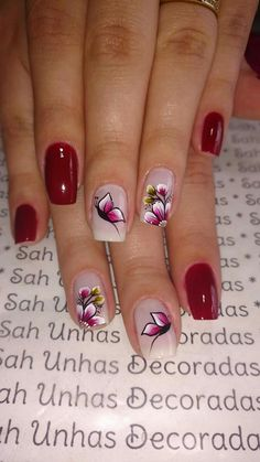 44 classy spring nail art design to try now Spring Nail Art, Spring Nails, Summer Nails, Spring Art, Butterfly Nail, Flower Nail Art, Colorful Nail Designs, Nail Art Designs, Design Art
