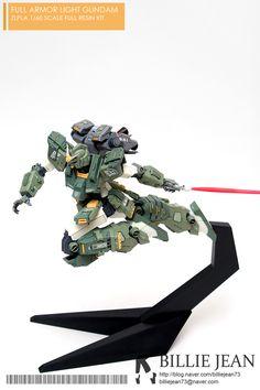 [Zlpla] Full Armor Light Gundam Resin Kit - Painted Build Modeled by Monster Co, Armored Core, Gundam Custom Build, Man Of War, Gunpla Custom, Mecha Anime, Suit Of Armor, Robot Art, Gundam Model
