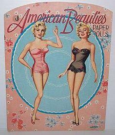 American Beauties, Paper Dolls, Vintage, Marilyn Monroe:)