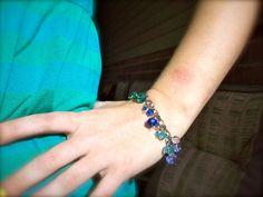 Colour Spectrum Glass Charm Bracelet by dgowin on Etsy, $30.00