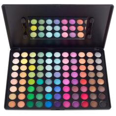 The 88 Original Palette displays an extensive collection of vibrant, highly-pigmented shadows in a matte or satin finish. These colors will bring out the artist in you no matter what the occasion. Whether you want a dark and smoky, fresh and vibrant, or totally funky look– these eclectic colors do the job, and last forever. Comes with two dual-tipped foam applicators and a built-in mirror.