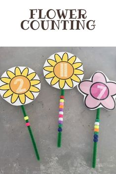 Flower Fine Motor Counting! Perfect for preschool and kindergarten spring time math centers!