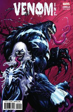 The Amazing Spider-Man/Venom: Venom Inc. Omega #1 (2018) KRS Comics Exclusive Venomized Variant Cover by Tyler Kirkham